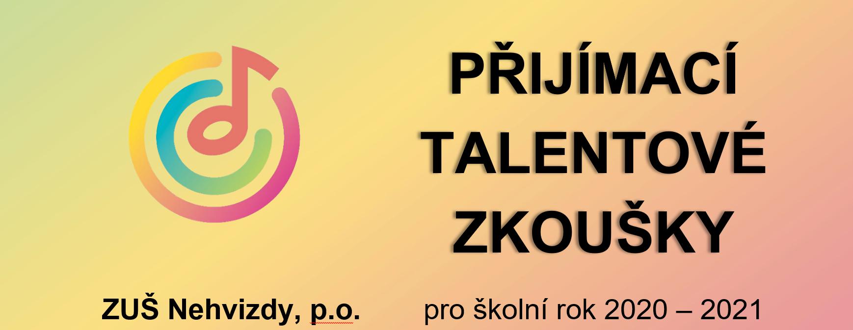 Přijímací talentové zkoušky 2020