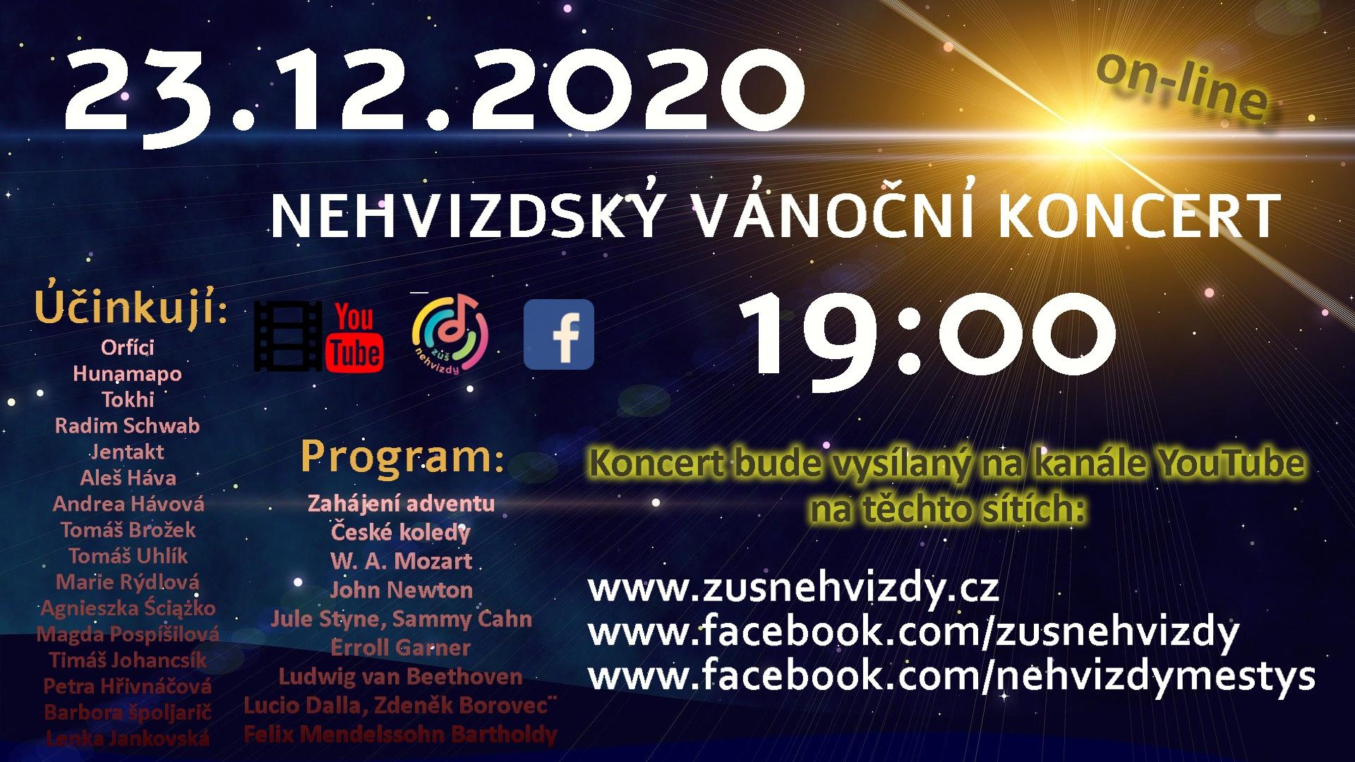 Adventní nehvizdský koncert 2020